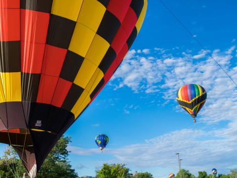 The Cortez Hot Air Balloon Rally's colorful entrants