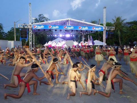 Performers during Guam Micronesia Island Fair