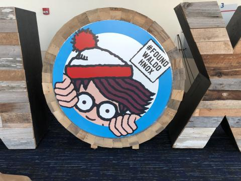 """One of the """"Waldo's"""" to be found in Knoxville, Tennessee, during the Where's Waldo Scavenger Hunt"""